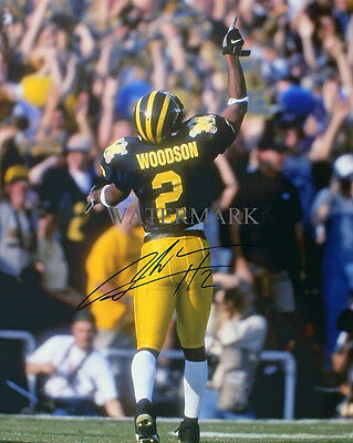 CHARLES WOODSON SIGNED 1998 ROSE BOWL MICHIGAN WOLVERINES 8x10 REPRINT PHOTO RP