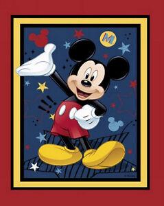 Mickey Mouse Fabric Panel Ebay