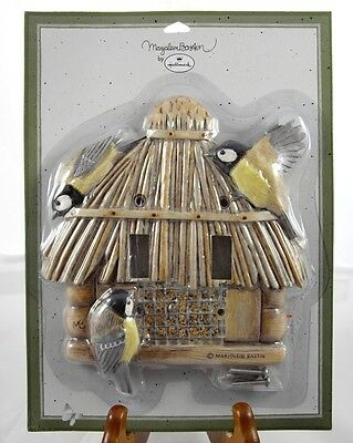Tiki Hut Bird Feeder Double Light Switch Plate Cover Marjolein Bastin Sealed NEW
