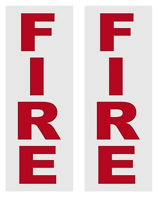 Fire Alarm Box Reflective Decals Stickers Lot of 2