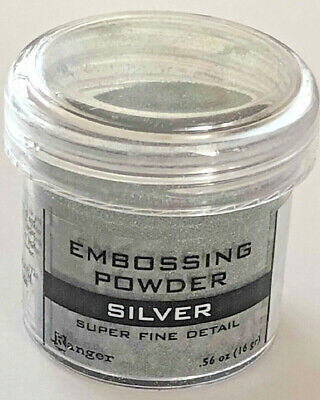 Ranger - Embossing Powder - Super Fine Detail Silver EPJ37415 - 14gr/ 0.50 oz Super Fine Detail Embossing Powder