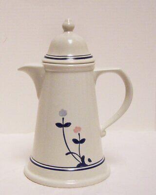 Pfaltzgraff Windsong Coffee Pot Carafe Beverage Server Pink Blue Flowers USA