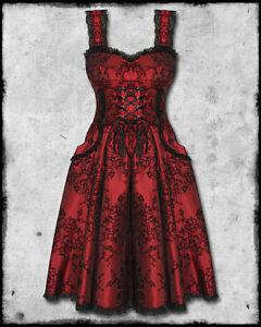 spin doctor red black flocked goth steampunk victorian