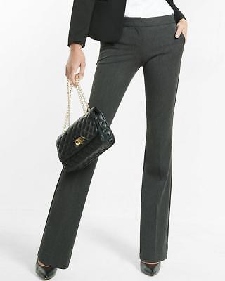 NEW EXPRESS $80 CHARCOAL LOW RISE SLIM FLARE COLUMNIST PANTS SZ 10