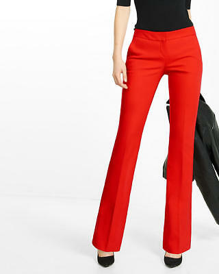 NEW EXPRESS $80 ENGINE RED LOW RISE SLIM FLARE COLUMNIST PANTS SZ 4