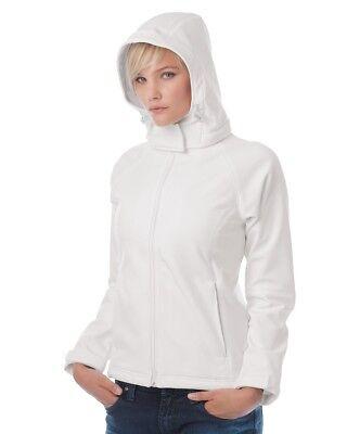 Zip Abnehmbare (B&C: Damen Softshelljacke, atmungsaktiv, Full Zip, abnehmbare Kapuze - Wom - NEW)
