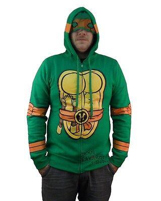 Teenage Mutant Ninja Turtles Michelangelo Costume Zip Up Hoodie