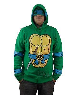Teenage Mutant Ninja Turtles Leonardo Costume Zip Up Hoodie