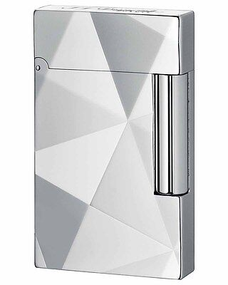 S.T. Dupont Ligne Line 2 Single Flame Cigar Lighter Facettes Palladium 16509 - Line 2 Cigar Lighter