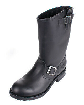 Sendra Boots Leder Biker Stiefel Fettleder 2944 Matebox Negro Unisex Schwarz