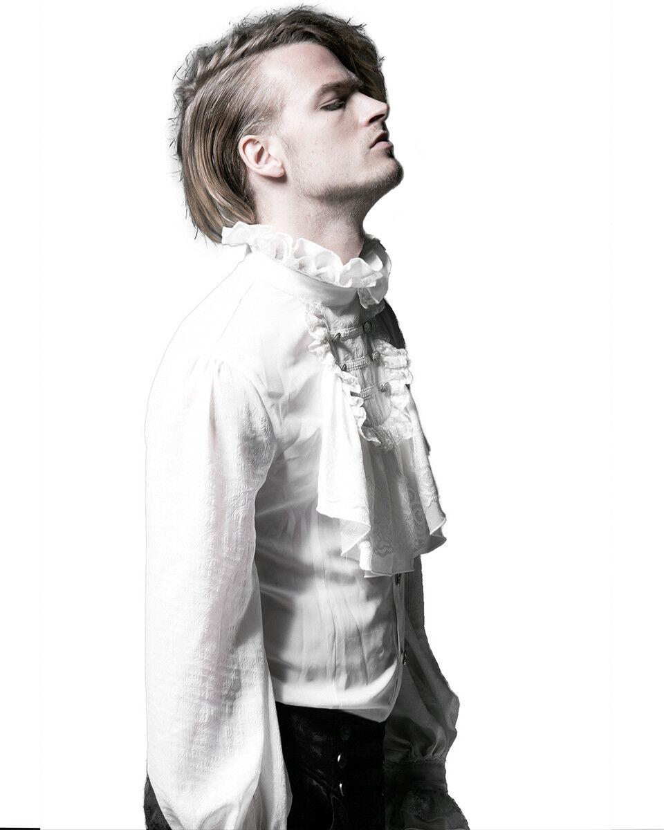 PUNKRAVE RETRO VINTAGE VAMPIER GOTHIC FAKE SHIRT WHITE COLLAR NECKTIES S-150 Clothing, Shoes & Accessories