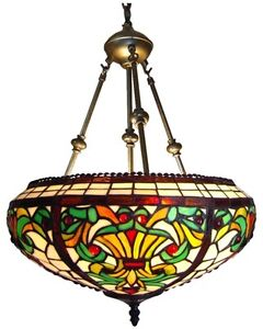 style victorian stained glass pendant lamp 16 inch shade handcrafted. Black Bedroom Furniture Sets. Home Design Ideas