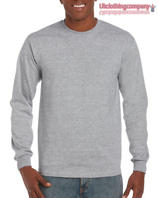 Erwachsene Ultra Cotton T-shirt (Sport Grau Erwachsene Gildan Langärmlig Ultra Cotton T-Shirt Herren Oberteile S)