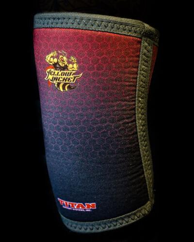 Titan Yellow Jacket Knee Sleeves - Powerlifting - USPA and IPL - 3rd gen
