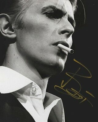 DAVID BOWIE Rare Autographed Signed Music 8x10 Photo Photograph Rp
