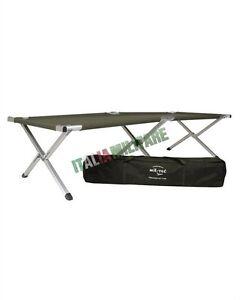 Branda militare verde in alluminio brandina letto da campo tenda e campeggio ebay - Letto da campeggio ...