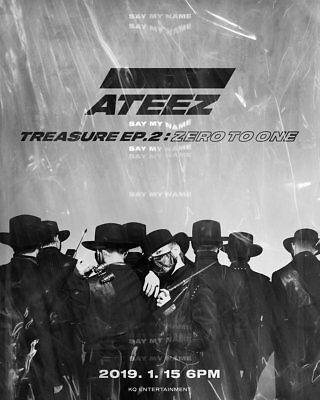 ATEEZ TREASURE EP.2:ZERO TO ONE 2nd Mini Album CD+Photo Book+Poster+15 Card+etc