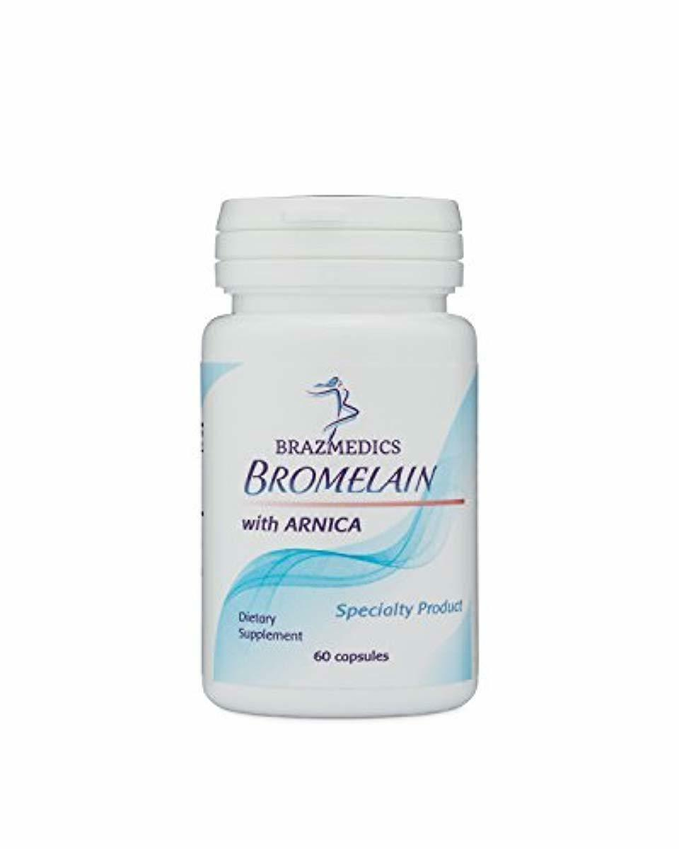 brazmedics bromelain with arnica tablets 500 mg