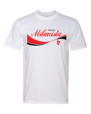 New Sempre Milanista AC Milan Supporters Mens Size Medium Calcio Soccer T-shirt