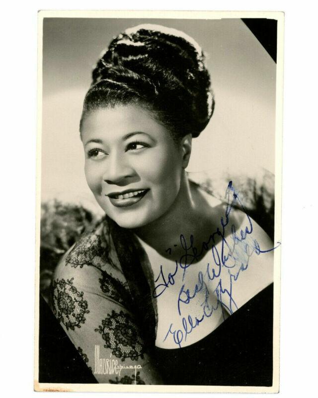 Ella FITZGERALD (1917–1996): Signed Postcard Photograph