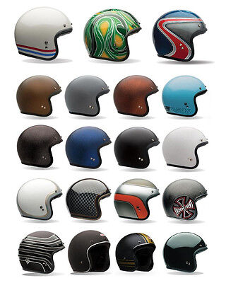 *SHIPS SAME DAY* Bell Custom 500 Open Face Motorcycle Helmet (Solid, Carbon, 74