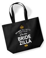 Bride Zilla Gift Idea Wedding Hen Party Bridal Bag Handbag Present Keepsake - the wedding classics - ebay.co.uk