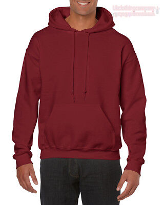 Garnet Mens Sweatshirt - Garnet Adult Gildan Plain Hooded Heavy Blend Sweatshirt Pullover mens hoodie