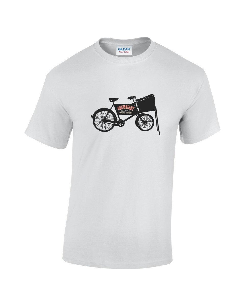 arkwright bike mens printed t shirt inspired