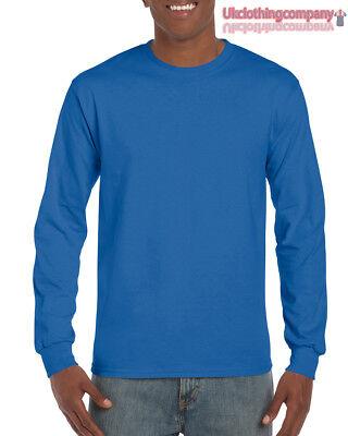 Erwachsene Ultra Cotton T-shirt (Königsblau Erwachsene Gildan Langärmlig Ultra Cotton T-Shirt Herren Oberteile S)