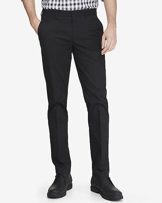 NEW EXPRESS BLACK EXTRA SLIM INNOVATOR STRETCH COTTON DRESS PANT SZ 30/30