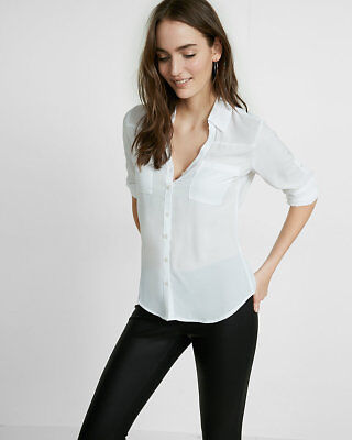 Express Clothing Slim Fit Portofino Xs Off White White Ish Xsmall New With Tags