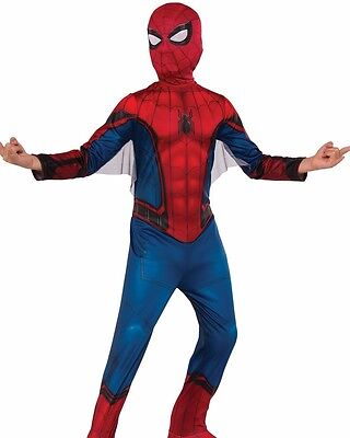 Spider-man Costume Childs Kids Boys Classic Spiderman - S 4-6, M 8-10, L 12-14