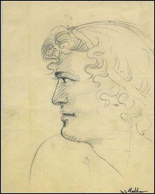 Maria MALIBRAN (Opera): Original Pen & Ink Drawing