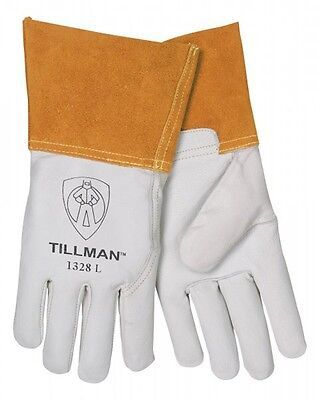 Tillman 1328 Large Tig Welding Gloves Pearl Goatskin Leather W 4cuff 1pair