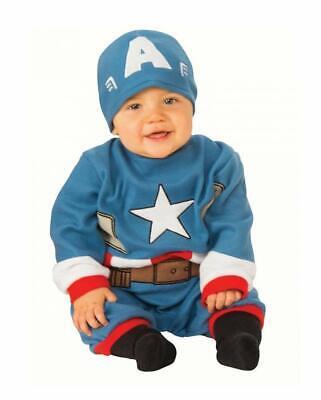 Costume Capitan America Carnevale Vestito Neonato Bambino Rubie's TG. 0-6 mesi
