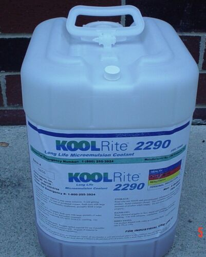 KOOLRite 2290 Coolant  5 GALLON PAIL, for metal cutting & MACHINING CNC & Manual
