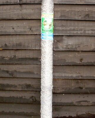 6ft (1.8m) tall 25m roll of galvanised hex. chicken garden wire mesh poultry