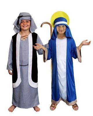 KRIPPENSPIEL KINDER KOSTÜM MARIA UND JOSEF NATIVITY KOSTÜM SCHULE WEIHNACHTSAUFF