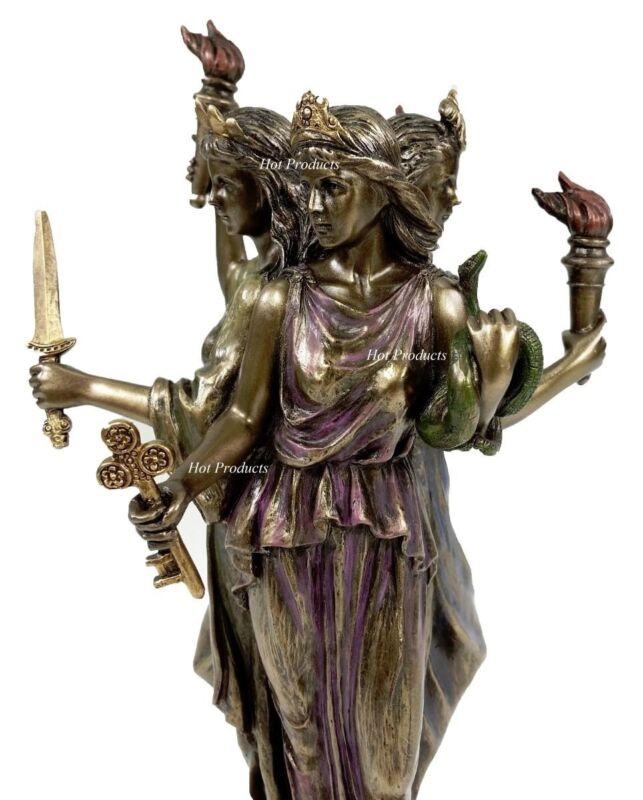 """8 1/4"""" Hecate Greek Mythology Goddess of Magic & Witchcraft Statue Bronze Finish"""