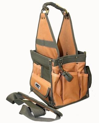 Electrician's Canvas Tool Pouch HD 28 Pockets Custom Handy Tools Bag w/ Strap