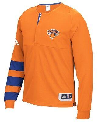 New York Knicks Adidas 2016 NBA Men's On-Court Authentic L/S Shooting Shirt Adidas Shooting Shirts