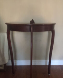 Decorative Half-Table ($75 OR BEST OFFER) MUST GO BY SATURDAY!!