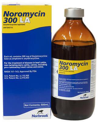 Noromycin 300 La 500 Ml Bottle Cattle Swine