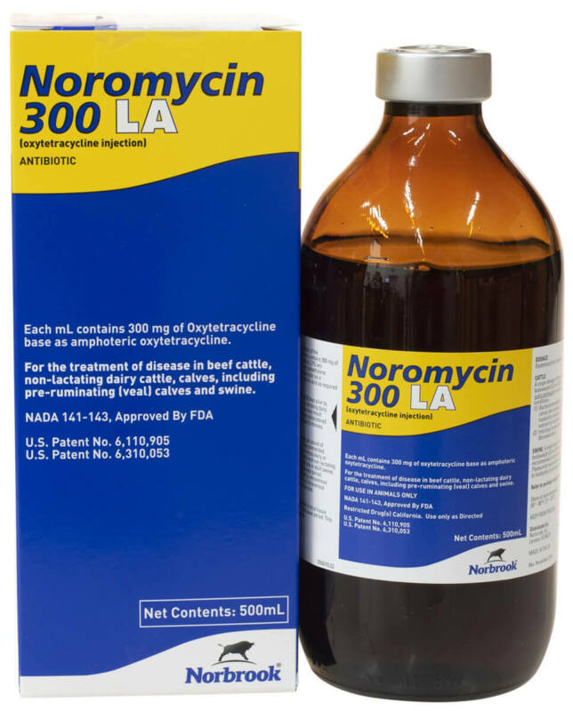 Noromycin 300 LA 500 ml Bottle Cattle Swine