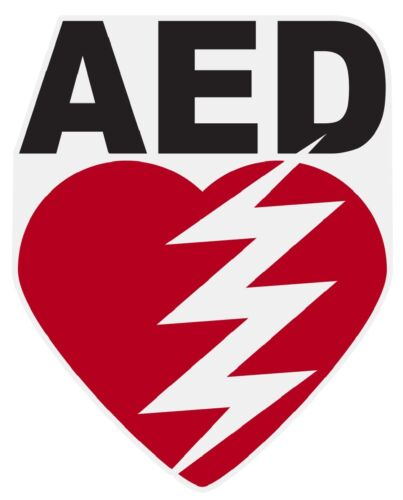 """AED Small 3"""" Reflective Decal Sticker"""
