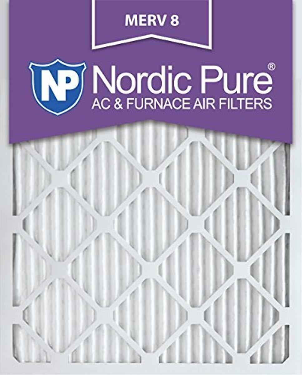 Nordic Pure 16x24x1 MERV 8 Pleated AC Furnace Air Filters 16