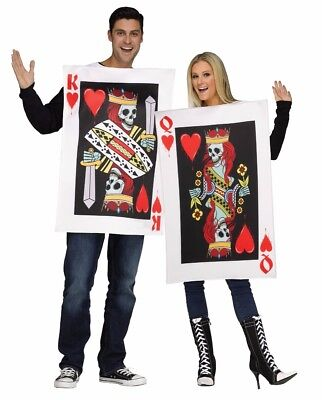 Couples King & Queen of Hearts Cards Costume Adult Pair Funny Humorous Costumes](Funny Halloween Costumes Pairs)