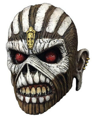 Scary Music Halloween (Book Of Souls Iron Maiden Latex Mask Costume Overhead Eddie Eddy Metal)