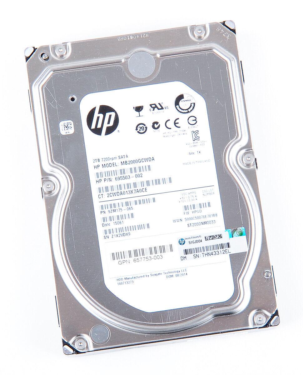 HP 2TB 2000GB 6G 7.2K 7200rpm SATA-3 3.5
