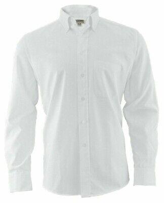New Men's Edwards White Oxford Button Long Sleeve Dress Shirt 3XL / XXXL White Long Sleeve Button
